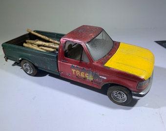 Ford pickup, 1/24 scale, f250, work truck, Classicwrecks, junkermodel, barnfind, ratrod
