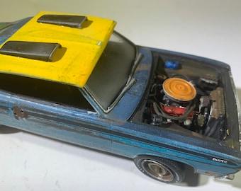124scalemodel, ratrod, Plymouth duster, junkermodel, Classicwrecks,mopar, moparmuscle, junkyard model, barnfind, hot rod.