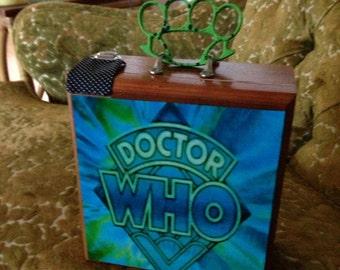 Dr. Who Themed Cigar Box Purse