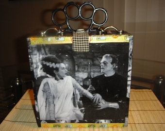 Classic Movie Monsters Themed Cigar Box Purse