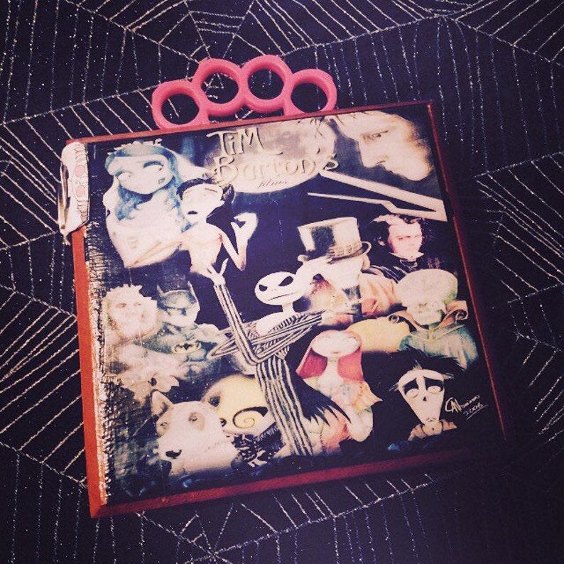 Tim Burton characters themed cigar box purse image 0