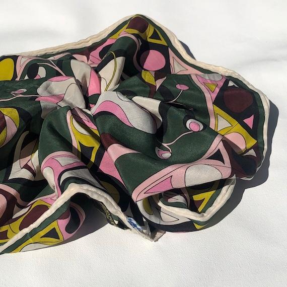 Porcelain 100/% Silk Scrunchie by The Delft Cactus Vintage Oversized ~size large~