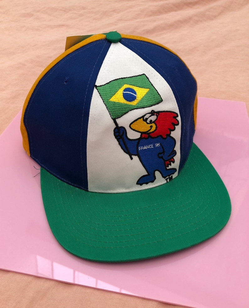 07e2bb27f80 Vintage 1998 France World Cup Coupe Du Monde Snapback Hat with