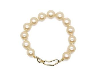 California pearl bracelet, glass pearl bracelet, California jewelry, California bracelet, wedding jewelry, bridesmaid gift, coastal jewelry