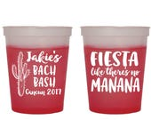 Fiesta Cup, Bachelorette Party Cup, Fiesta Like There 39 s No Manana, Cups, Party Cups, Color Changing, Cup, Mood Cups, Cactus Cup, 1757