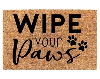 Wipe Your Paws Etsy