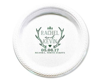 rustic wedding plate antler plate party plate plate couples shower wedding favors dessert plate anniversary bridal shower 7 1681
