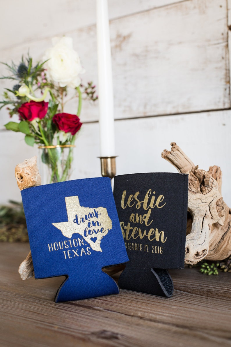 Drunk In Love 1026 State Wedding Favors State Favors Gold Wedding Favors Texas Wedding Favors Personalized State Favor Wedding Favor