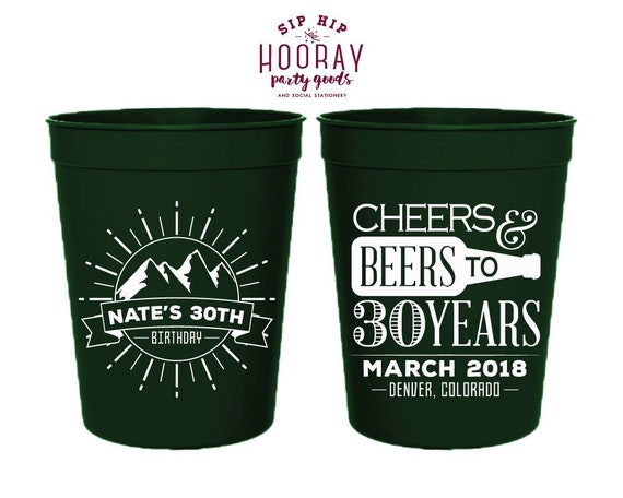Birthday Party Cups For Parties 30th 40th 50th