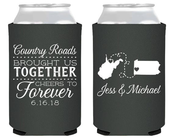 Personalized State Wedding Favors Monogrammed Wedding Favor Etsy