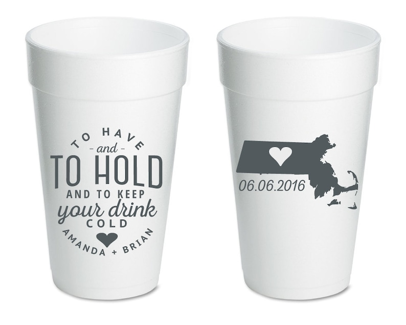 6742a5eb910 Cups To Have and To Hold Wedding Favors Party Cups   Etsy