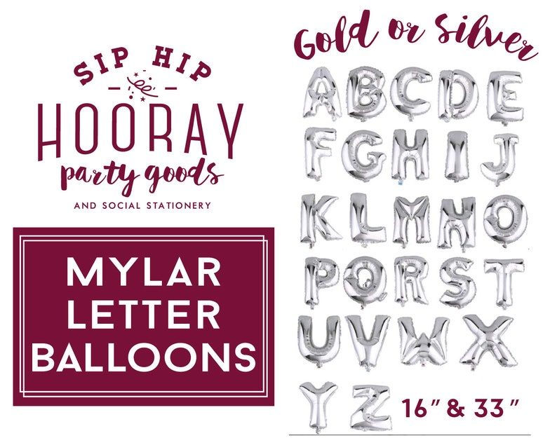 Bridal Shower Birthday Party Banners Any Custom Phrase Foil Mylar Letter Balloons Bachelorette Party Baby Shower Gold Balloons