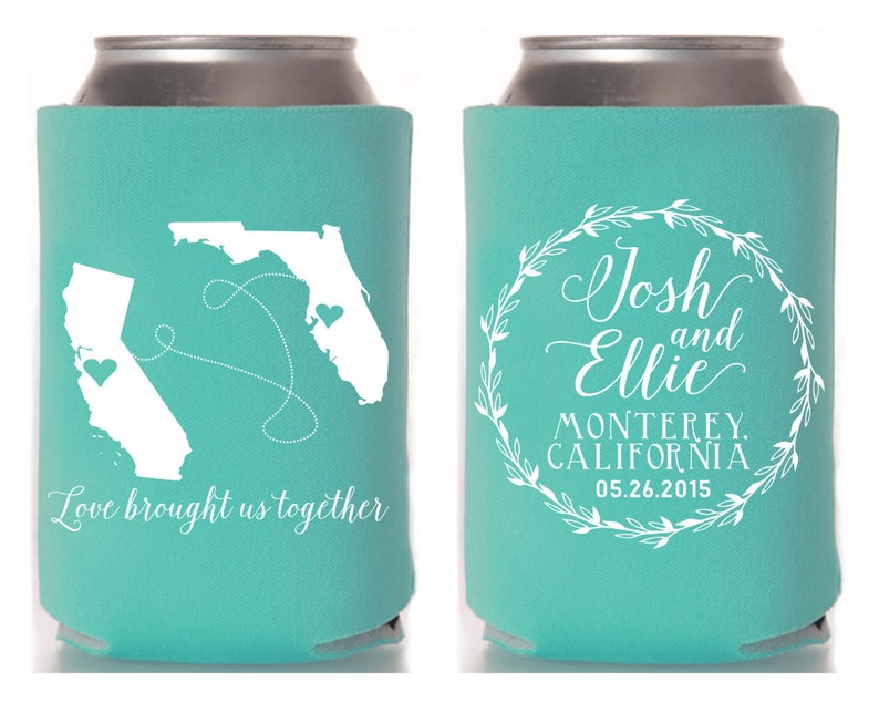 Monogrammed State to State State to State Favors Wedding Party Gifts 1066 Monogrammed Wedding Favors Wedding Anniversary Party Gifts