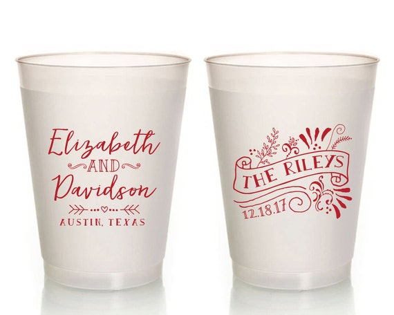 Personalized Cups For Wedding | Wedding Cups Unique Wedding Cups Wedding Favor Cups Etsy
