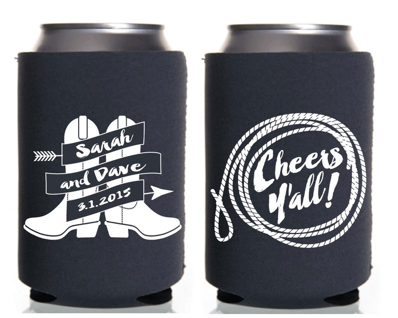 Wedding Favors Rustic Wedding Party Cheers Yall Cowboy Etsy