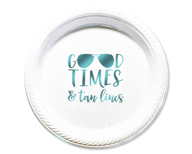 """Plates, Plate, Party Plate, Cake Plate, Custom Party Plates, Personalized Plates, Wedding Plates, Beach Party, Bachelorette, 7"""" Size, 1664"""
