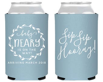 Baby Shower Guest Favors, Baby Shower Gifts, Sip Sip Hooray Gifts, Baby Shower Favors, Diaper Shower Gift, Sip Sip Hooray Can Coolers, 1886