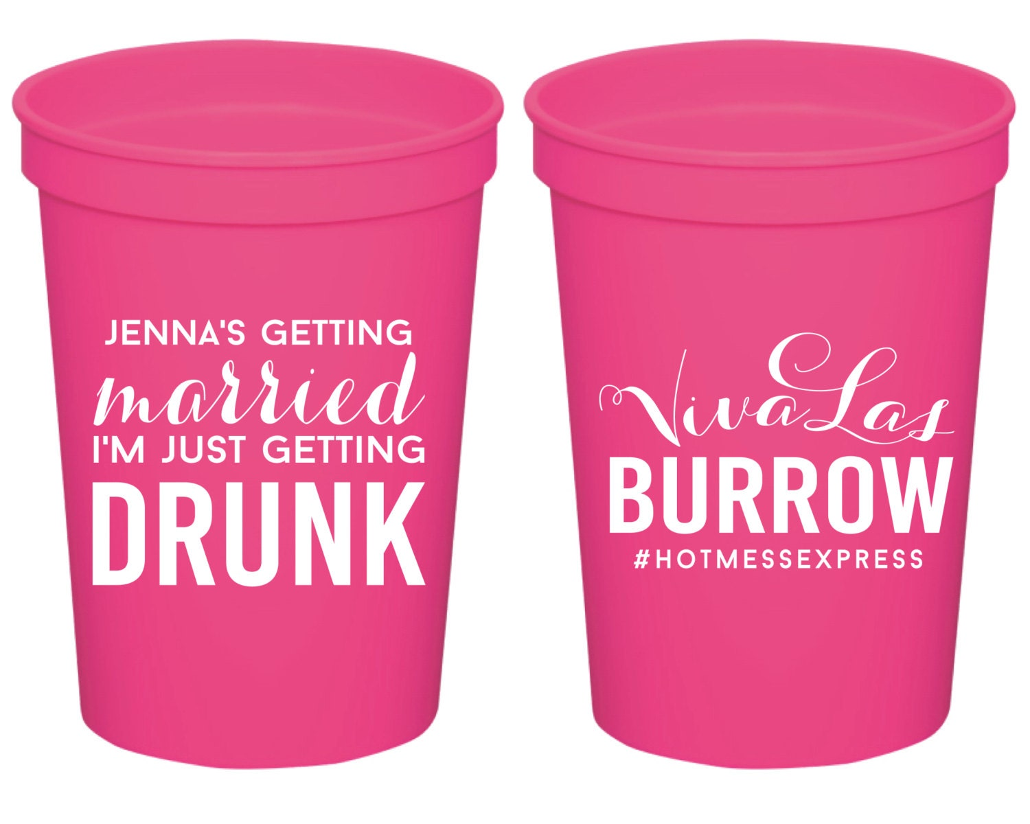 Bachelorette Stadium Cups Wedding Cups Custom Plastic Cups | Etsy