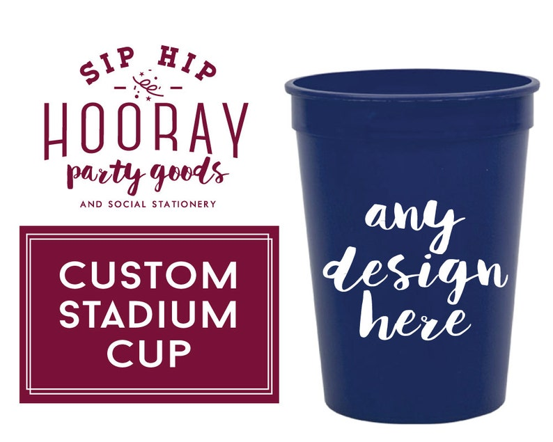 ee9a78d37ba Personalized Plastic Cups Party Cups Wedding Cups Custom | Etsy