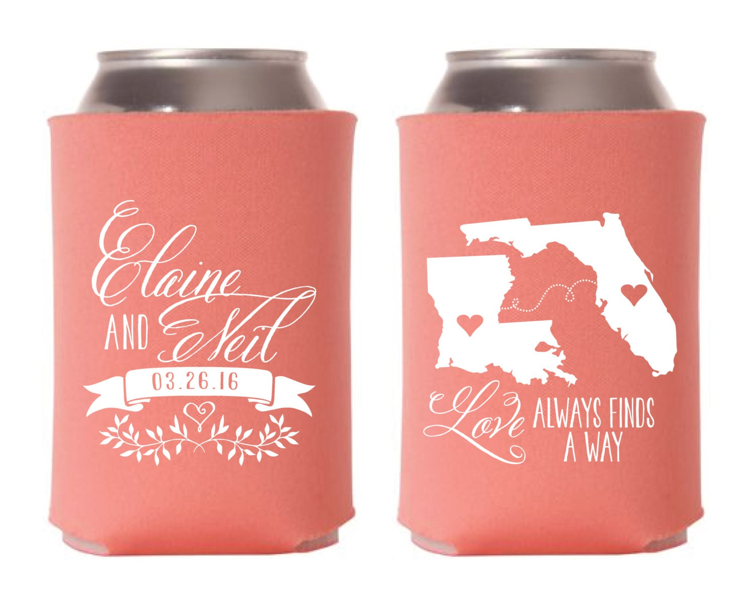 State to State Wedding Favors Love Always Finds a Way Wedding | Etsy
