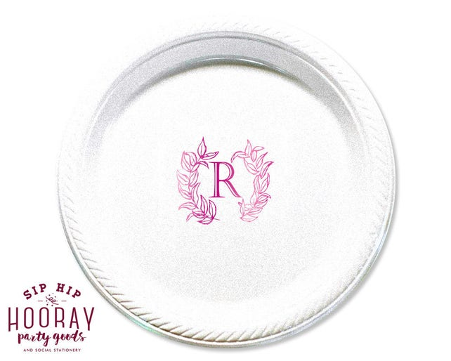 Monogrammed Plates Rehearsal Dinner Housewarming Gifts Wedding