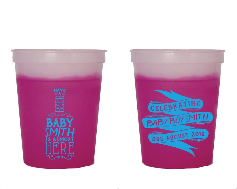 Baby Shower Cups Color Changing Cups Fun Party Cups Unique Party Cup Couples Shower Gifts Mood Cups 1353 Party Cup Party Favor Cups