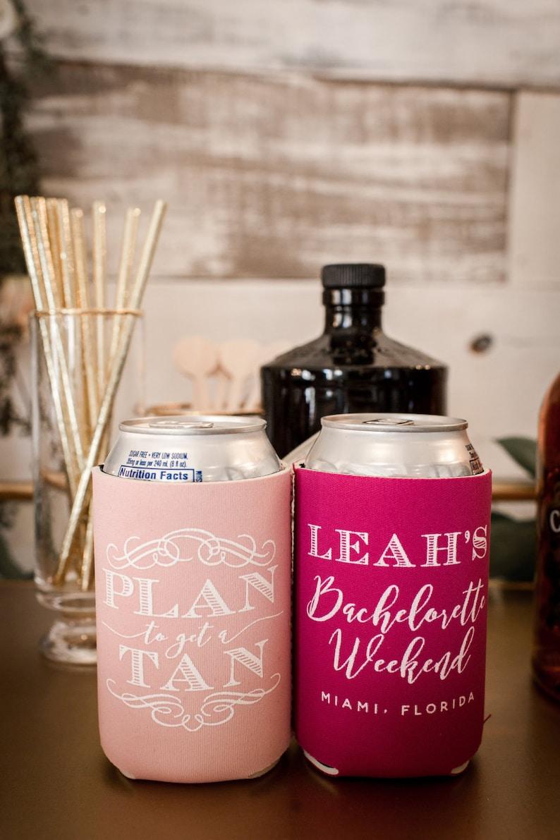 Plan To Get A Tan Beach Party Girls Trip Favors Bachelorette Party 1503 Bridal Shower Favor Bachelorette Weekend Beach Bachelorette