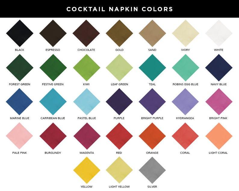 Floral Napkins Wedding Napkins Wedding Napkins Personalized Napkins Cocktail Napkins Monogrammed Napkins Wedding Favors