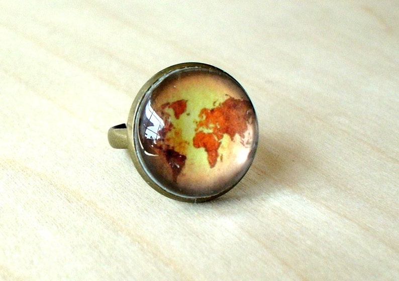 20/% OFF Old World Map Vintage style Ring,Old Fashion,Gift idea