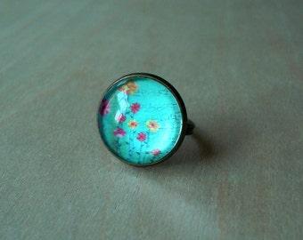 20% OFF -Flirting - Flora Ring, Bronze Adjustable Ring, Handmade Art Jewelry