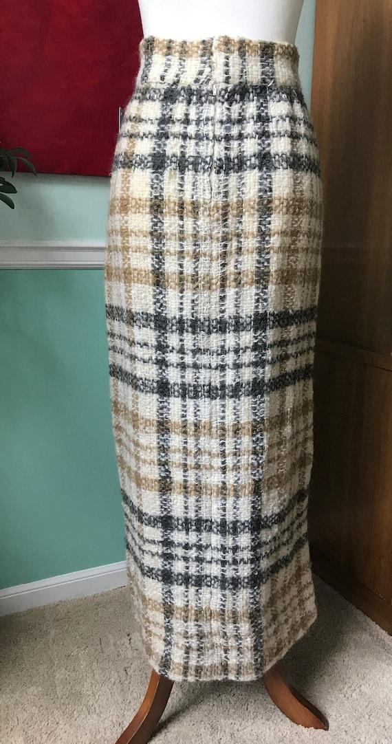 Irish Wool Plaid maxi skirt - image 3