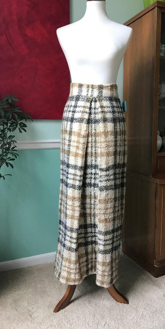 Irish Wool Plaid maxi skirt - image 1