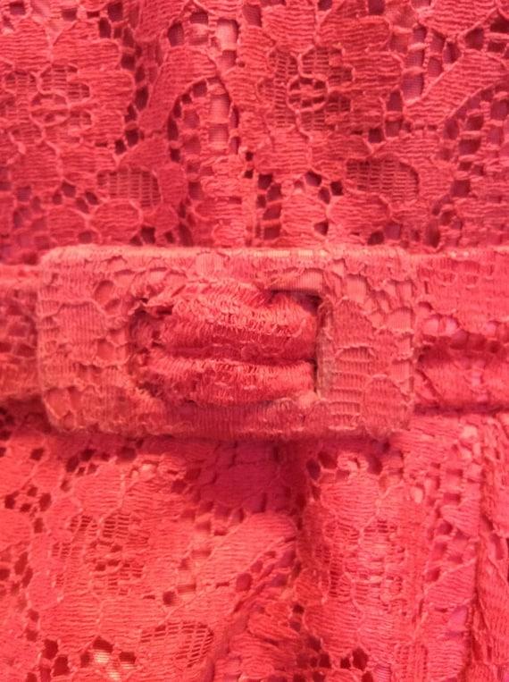 50's Strawberry Lace Dress - image 5