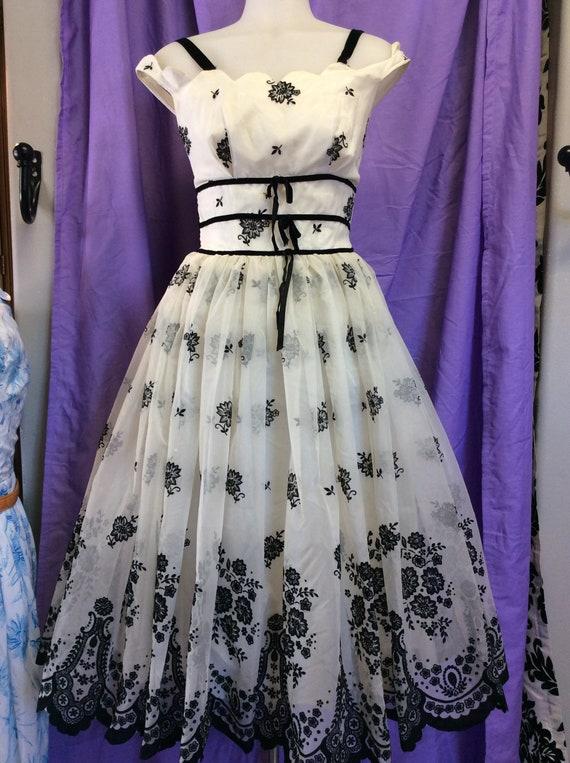 precious Black& white Party/prom Dress