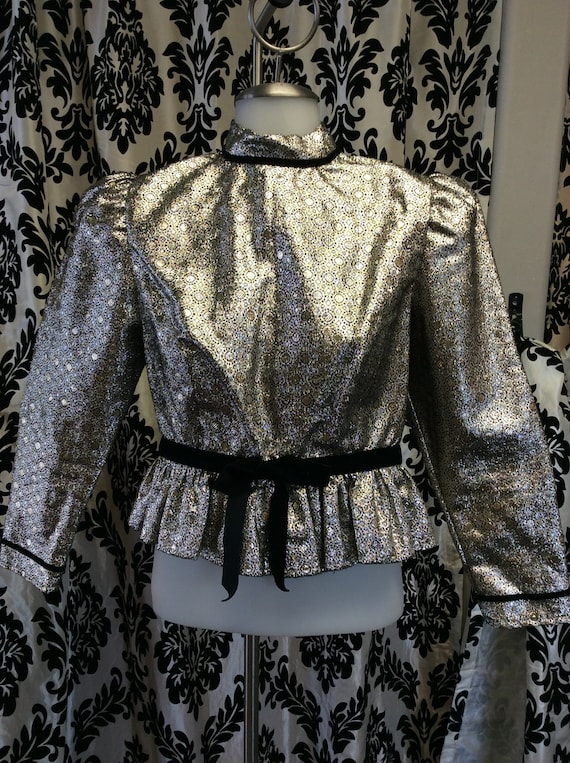 70's/80's Metallic Costume Blouse
