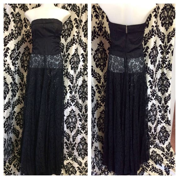 Stunning 40's Taffeta and Lace Evening Gown