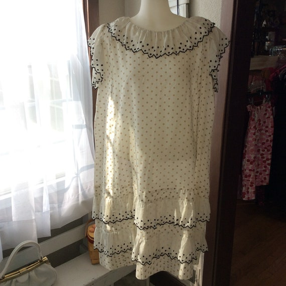 1920's Polka Dot Cotton Day Dress-large