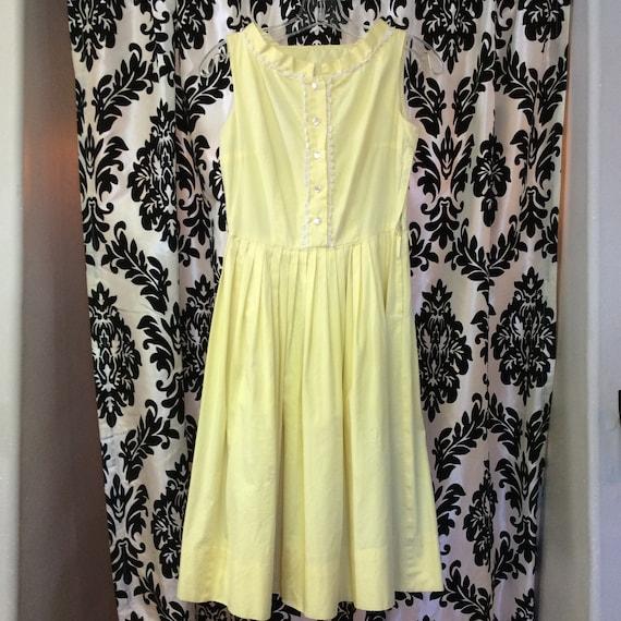 1950's Daffodil Shirt Dress- Cotton