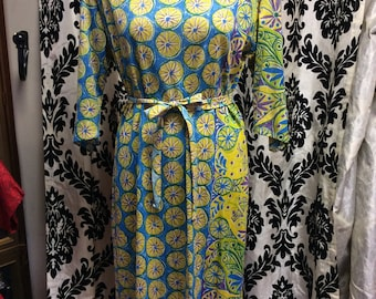 Fantastic  60's Floral Multiprint Shiftdress