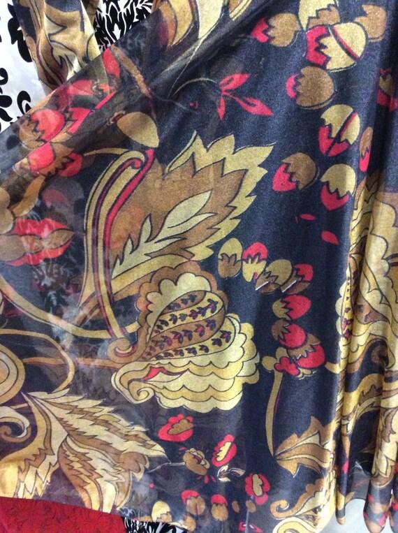 Beautiful 50's Chiffon and Rayon Party Dress - image 4