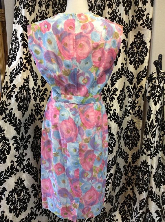 50's Form Fitting Floral Sundress - image 4