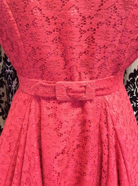 50's Strawberry Lace Dress - image 4