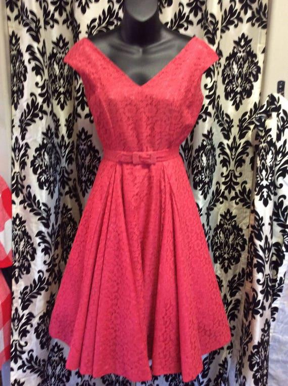 50's Strawberry Lace Dress