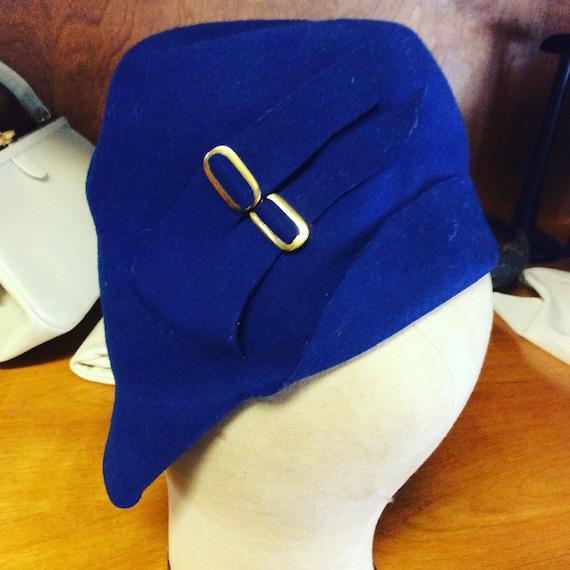 1920s/30s Blue Belle hat