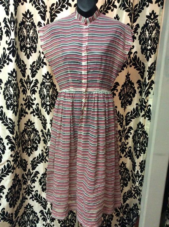 Striped Sheer 40's Sundress