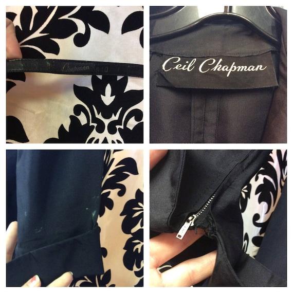 Stunning 40's Ceil Chapman Wiggle Dress - image 7