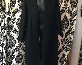50's Black French Woolen Lilli Ann Coat