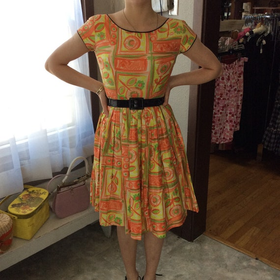 Fluorescent Fifties Dress-XS