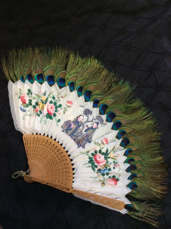 1920's Handpainted Japanese  Fan