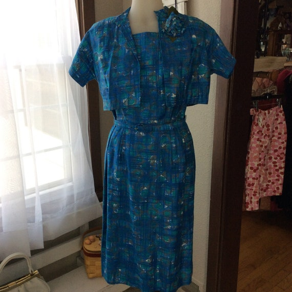 60's Blue Dress Set